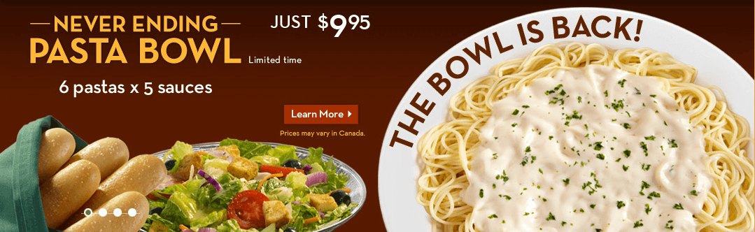 Olive Garden Never Ending Pasta Bowl Miss Money Bee