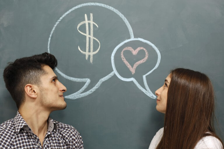 Don't go into debt together in the name of love