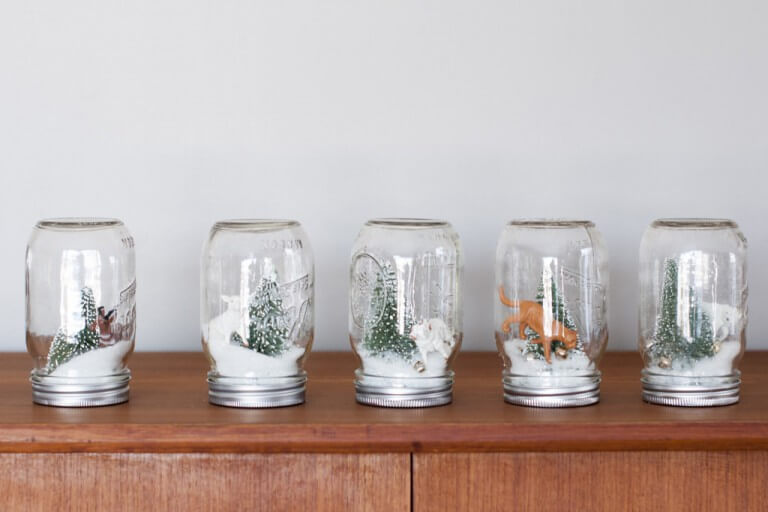 DIY snow globes make the holidays merry