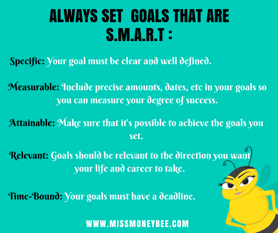 Beautiful money teaches you to set SMART goals